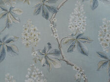 Sanderson Curtain Fabric 'Chestnut Tree' 3.4 METRES Grey Blue/Sage - Linen Mix