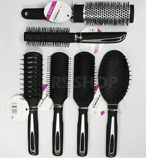 6pz Donna Unisex Hair Styling pettine Black Set Parrucchiere Brush Barbers REGALO
