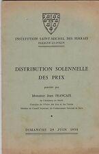SAINT MICHEL DES PERRAIS   PARIGNE LE POLIN   DISTRIBUTION DES PRIX 29 JUIN 1958