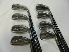 New 2015 TaylorMade Aeroburner Iron set 4-AW Irons Regular flex Graphite shafts