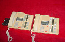 Northern Telecom M7324 Meridian Beige Desk Telephone, Lot of 2