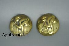 Vintage Joseff of Hollywood gold-plated Zodiac Aquarius earrings