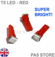3x T5 Dashboard LED RED (3pcs) - Super Bright 5050 Bulbs Quality. UK Post