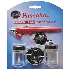 Paasche EZ Starter Single Action Airbrush Kit with Air Hose & Bottles & Wrench