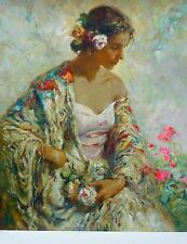 "JOSE ROYO "" BELLEZA SERENA  "" 1997 HAND SIGNED NUMBERED SERIGRAPH"