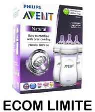 New Avent Philips Natural Feeding 3 x Bottle 260ml 9oz / FREE