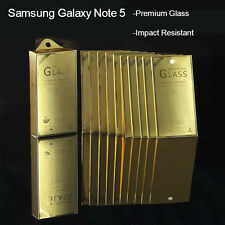 GLASS Screen Tempered Galaxy Note 5 Protection Thin Full Coverage Ultra Premium