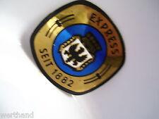 Fahrrad  Emblem  Steuerkopfschild Aufkleber Express blau
