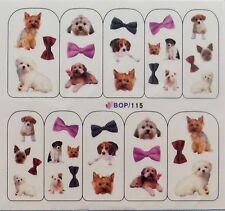One Stroke Stickers-NAIL TATTOO- 115 -HUND DOG  wasserlöslich