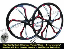 "27.5"" 650B MTB Bike Magnesium Alloy Disc Wheel Set + Sram 10 Speed Cassette"