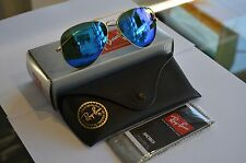 RAYBAN 3025 RB3025 AVIATORS 112/17 BLUE MIRRORED 58 MM  AVIATORS GOLD FRAME-