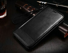 Genuine Leather Stand Card Wallet Magnetic Flip Protector Phone Case Cover Skin