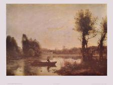 Jean Baptiste Corot Art Imprimé Image lumière pression Lac de ville d d'Avray 41x54cm