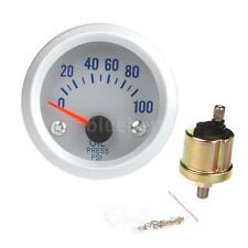 "2"" 52mm Auto Car Oil Pressure Gauge Meter with Sensor 0~100PSI Blue Light Z5T1"