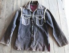 SHEYENNE VINTAGE Hippy Suede Shirt Jkt-Hand Crafted Mexico-Whip Stitched