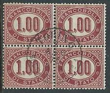 1875 REGNO USATO SERVIZIO DI STATO 1 LIRA QUARTINA - U24