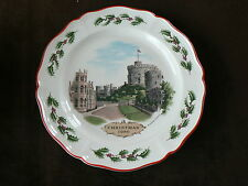 Wedgwood Plate, Christmas 1980, Windsor Castle, Royalty, Queen's Ware, Holly