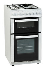 NordMende CTG50LPGWH Gas Twin Cavity LPG Gas WHITE 50cm Cooker CTG50LPGWH