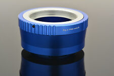 Blue M42 Screw Lens Micro 4/3 Camera Mount Adapter +Cap E-P1 OM-D Lumix DMC #694