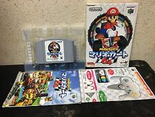 Mario Kart 64 Nintendo 64 Japan NTSC-J N64 boxed set