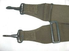 US ARMY STRAP OLIVE GREEN METAL/CANVAS 4 FOOT LONG