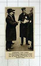 1920 Taxicab Drivers In London Mass Meeting Fare Increase