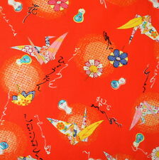 [Precut] 48x54cm Paper Crane Pattern Red Japanese Cotton Fabric - PC565
