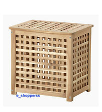 SKOGHALL WOODEN STORAGE BOX/LAUNDRY BASKET/BED SIDE TABLE ACACIA/48x36 cm