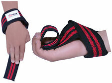 EVO Fitness Weightlifting Gym Straps GEL Padded Wrist Support Strap Cuff Glove