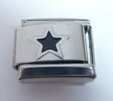 BLACK STAR Italian Charm - Stars Night Sky Space 9mm fits Classic Bracelets E124