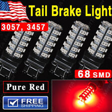 4X Pure Red Car 3157 68-SMD Brake Tail Stop Light LED Bulbs 3057 3457 4157 3047