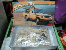 Toyota Land Cruiser 70 Armed pickup truck with ZPU2 1/35 model car kit free ship