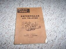 Caterpillar Cat 631 Tractor Parts Catalog Manual 13G2176- 13G3488
