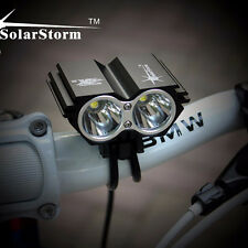 SolarStorm 5000LM CREE XM-L T6 LED Bicycle Torch Headlight +6400mAh Battery Pack