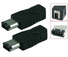 2 Pack Firewire IEEE 1394 6 Pin Male to 4 Pin Female Adaptor