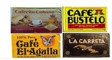 Cuban Coffee 4 packs espresso Cafe Cubano , aguila , carreta ,  bustelo