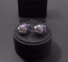 BNWT.Duchamp London =SILVER-TONE SHELL = Crystal Cufflinks. RRP£145