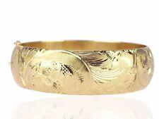 Art Deco 14 K 585 Gelb Gold Armreif Armspange handgraviert 37,3 gr