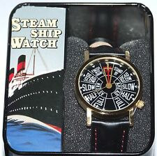 Men's Steamship Telegraph Wrist Watch in Tin Gift Box by Unemployed Philosophers