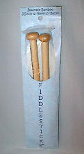 "Fiddlesticks Japanese Bamboo Single Point Knitting Needles 10"" US #17 - 12.75mm"