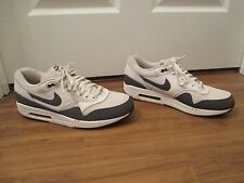 Used Worn Size 13 Nike Air Max 1 Essential Shoes White & Dark Gray