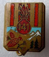 Insigne boutonnière 1939 114° RIA Régiment Infanterie Alpine ORIGINAL WWII doré
