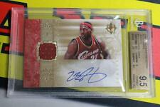 2006-07 ULTIMATE COLLECTION LEBRON JAMES JERSEY AUTO #D /75 CAVS UNI BGS 9.5 WOW
