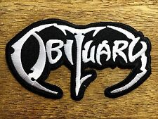 """New"" OBITUARY Rock Band Sew Iron On Patch American Death Metal Embroidered #01"