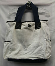 Lululemon Womens Mens Beach Bag Blue Cream Flowered Hobo Bag Good Used 2293