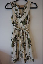 Fleur Wood Anthropologie Pretty Summer Cotton Dress Vintage Style Size 0 UK 6-8