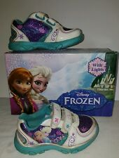 Baby Girl toddler Size 7 M Light up Frozen Shoes Disney Hair Head Bands