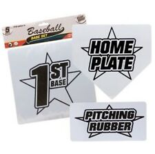 Set of Baseball Softball Bases plus Pitching Rubber and Home Plate
