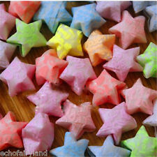 50pcs/pack Finished Lucky Stars Luminous Origami Folded Paper Random Color