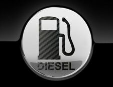 Black Carbon Diesel Fuel Only Fuel Cap Cover Car Sticker, 75mm, Decal Graphic